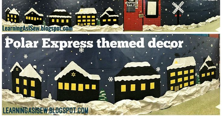 Our 1st grade team does an annual Polar Express themed party, and they make an awesome train that goes down one side of the hallway. I real...