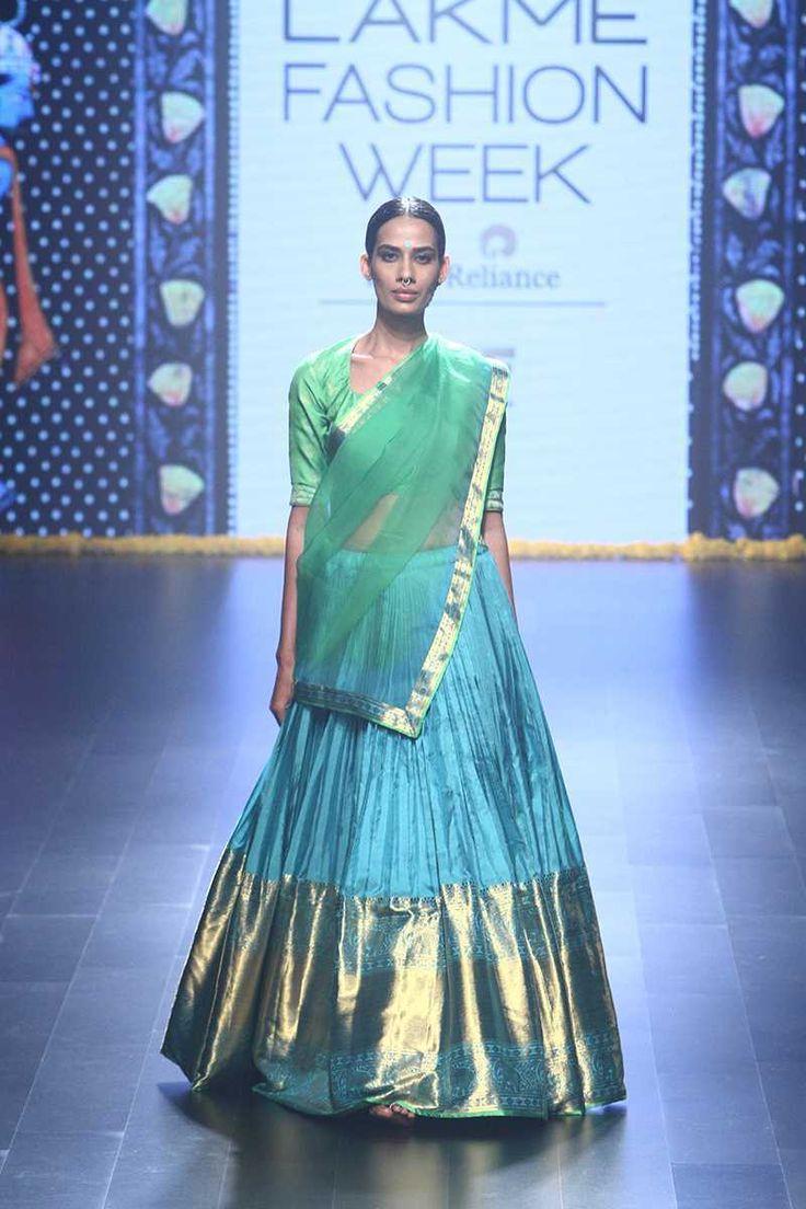 By designer GAURANG. Bridelan - Personal shopper & style consultants for Indian/NRI weddings, website www.bridelan.com #GAURANG #LakmeFashionWeek2016 #weddinglehenga  #Bridelan #BridelanIndia http://www.bridelan.com/