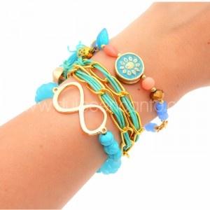 Pulsera Infinito Doble Verde Azul    Compra tus accesorios desde la comodidad de tu casa u oficina en www.dulceencanto.com   #accesorios #accessories #aretes #earrings #collares #necklaces #pulseras #bracelets #bolsos #bags #bisuteria #jewelry #medellin #colombia #moda #fashion