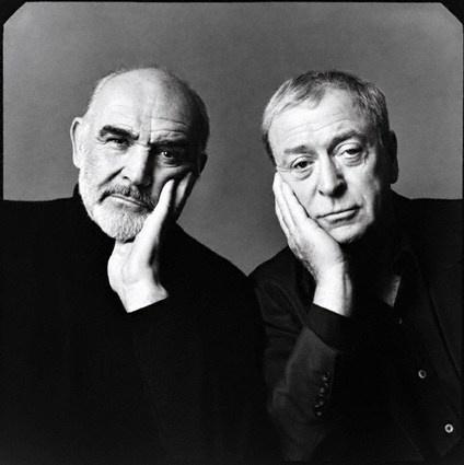 Sean Connery & Michael Caine (Photographer: Michael O'Neill, 1998)