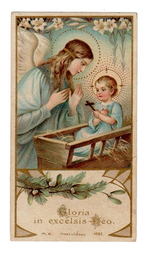 Gloria in Excelsis Deo Vintage Holy Card