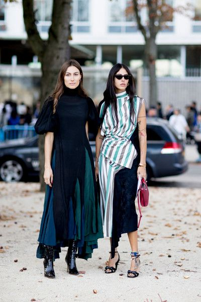 Artsy Layers - The Best Outfits Worn to Paris Fashion Week - Photos