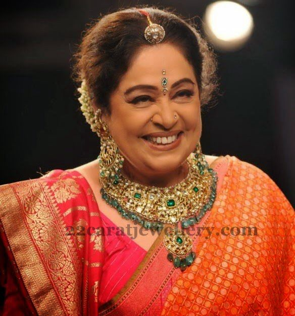 Kiron Kher in bright avatar. Description by Pinner Mahua Roy Chowdhury.