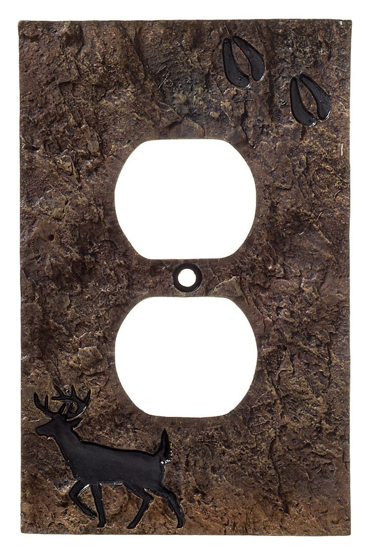 Big Sky Carvers Deer with Tracks Electrical Outlet Cover Plate | Bass Pro Shops: The Best Hunting, Fishing, Camping & Outdoor Gear
