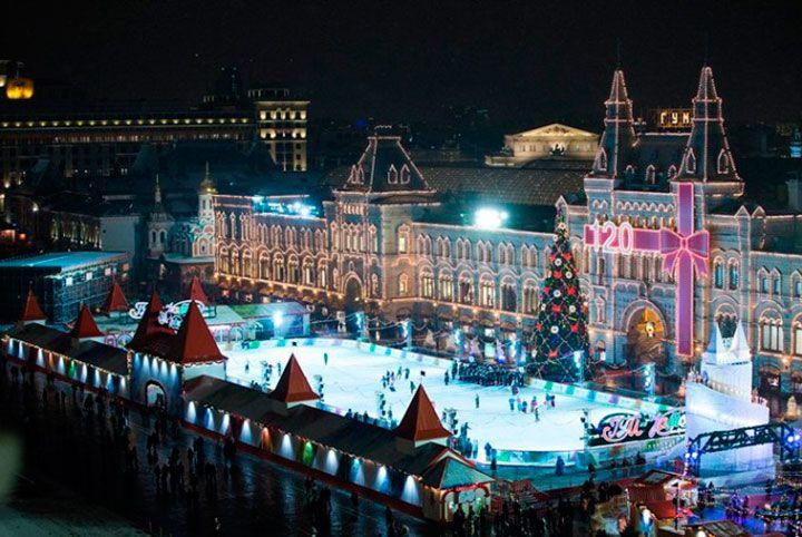 Красная площадь на Новый Год.