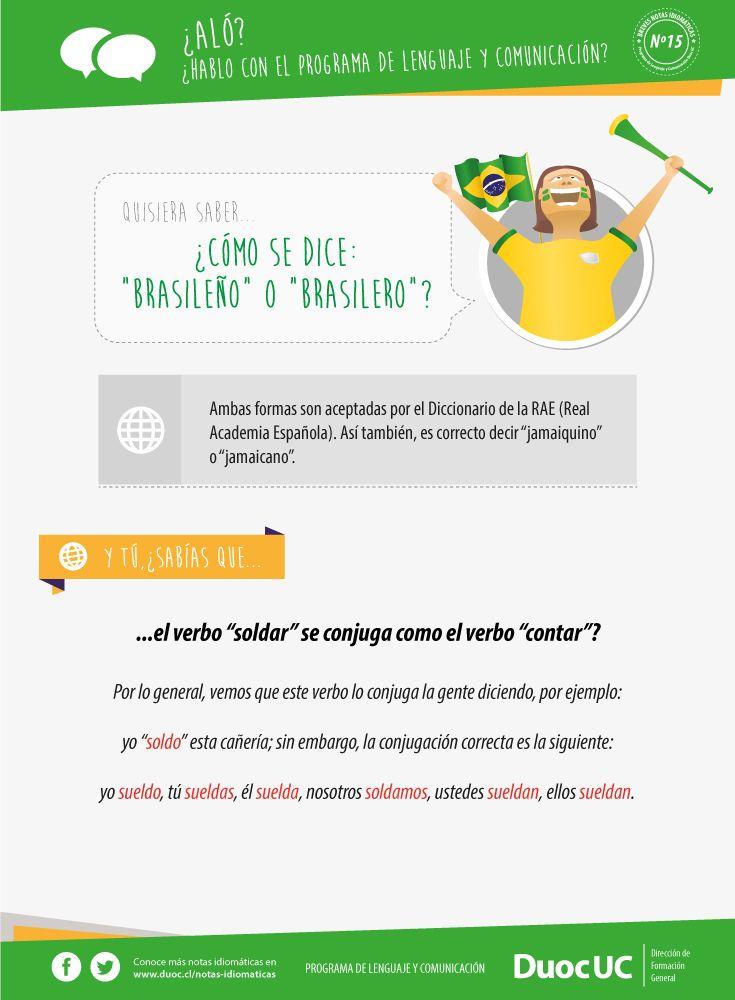¿Cómo se dice: brasileño o brasilero? - Breves Notas Idiomáticas | Duoc UC
