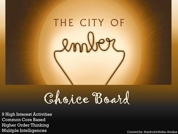 9 activities that provide a meaningful culmination to your unit on City of Ember!  Students can choose from a variety of activities to create their own final project. Use as classwork, homework, literature circles, independent reading responses, or even in literacy centers.