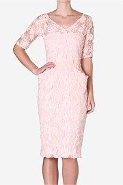 Carla Zampatti-Hibiscus Lace Hourglass Dress