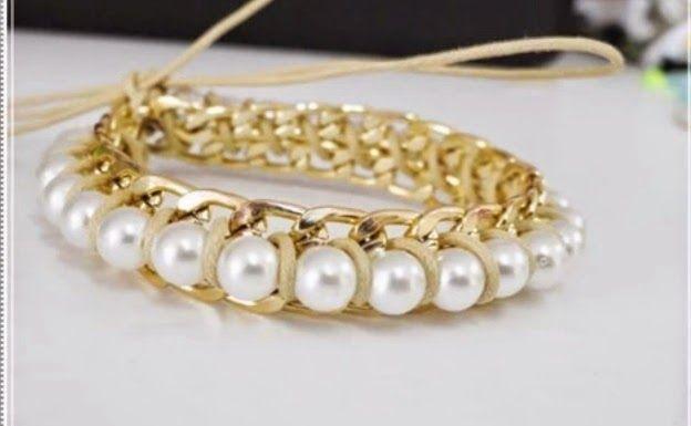 Codreanu Gioielli Arte e semi-Gioielli - Tutorials: 89) Esercitazione 20 - braccialetto di perline catene - da Mayara Mendes (bello)!