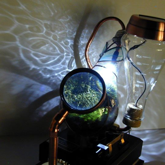 nifty steampunk terrarium. I like Cyberpunk more, though.