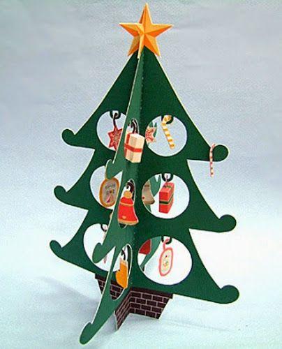 CASITA DE PAPEL: Dollhousepaper: Arbol navideño, xmas tree by Niku Mansei