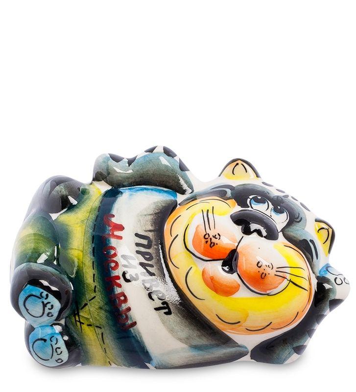 Фигурка «Кот-Таити» ГЛ-354 (Гжельский фарфор)      Страна производства: Россия;   Материал: фарфор;   Длина: 12 см;          #porcelain #Gzhel #figurines #statuette #handmade #handpainted #фигурка #фигурки #статуэтки #фарфор #Гжель #ручная #работа #ручнаяроспись #роспись #кошка