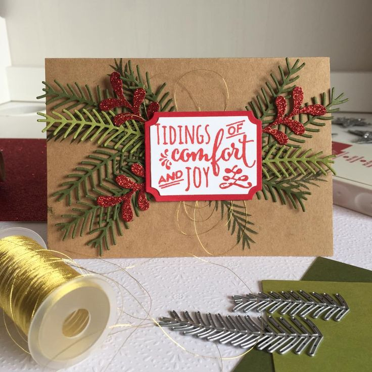 Peaceful Pines by Stampin' Up for the WOW card