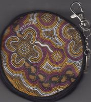 Aboriginal design Coin Purse On Walkabout - Wine $9.00 or 2 for $16.00 Code: COIN-OWW21