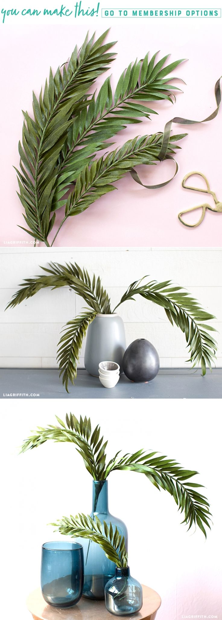 We're Very Frond of You ✨ These crepe paper palm fronds look and feel crazy real! Our Maker, Meagan has just discovered a new technique that is changing the paper flower game. We'll share it with you in this project so you can take your crafts to the next level https://liagriffith.com/crepe-paper-palm-fronds/ * * * #tropical #tropics #tropical #crepepaper #crepepaperrevival #crepepaperflowers #leaves #palm #green #diy #diyidea #diyideas #diyinspiration #diycraft #diycrafts #paper #papercut…
