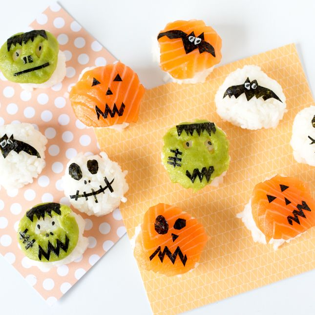 Save this to make spooky Halloween Sushi Bites.