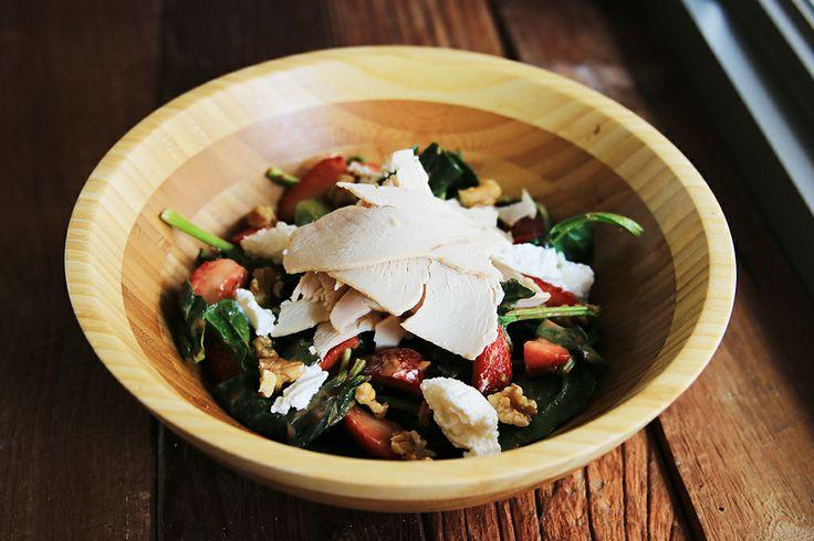 Turkey Spinach Salad with Turkey Breast