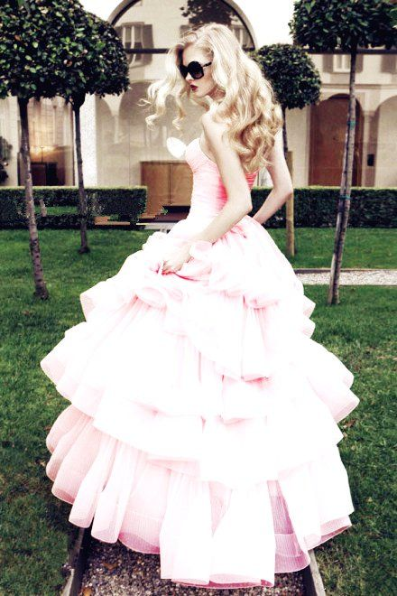 Pink Rocker Wedding Dress Valentines Day Wedding Ideas