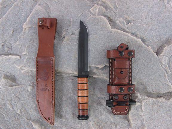 Ka Bar Knife With Factory Sheath And Hedge Hog