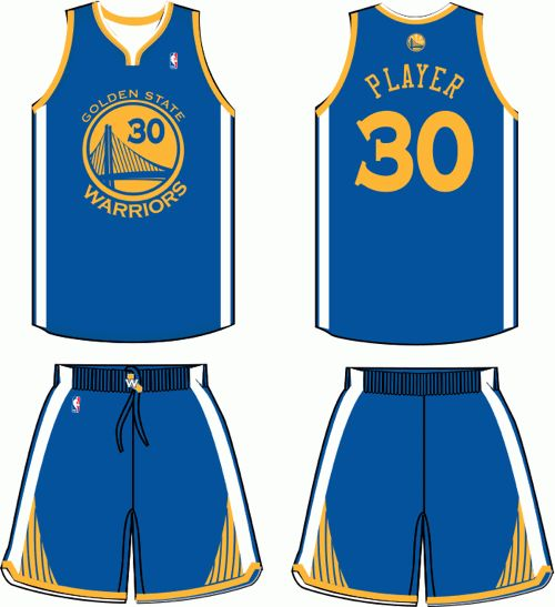 images of GOLDEN STATE WARRIORS BASKETBALL TEAM | Golden State Warriors Road Uniform