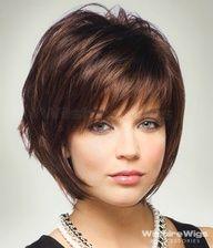 cabelo curto repicado em camadas rosto redondo - Pesquisa Google