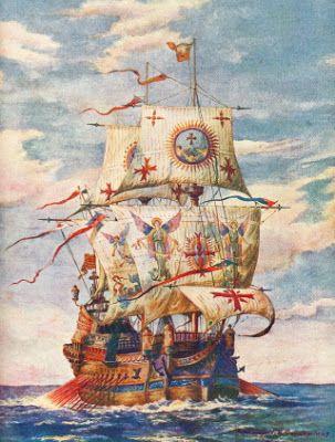 Galeón español, eran barcos de guerra poderosos y muy versátiles que podían ser igualmente usados para el comercio o la exploración, auténticas fortalezas flotantes. España basó en ellos su hegemonía en los mares durante más de 150 años