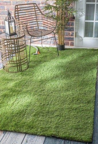 Artificial Grass Green Area Rug, Size 8' x 10'