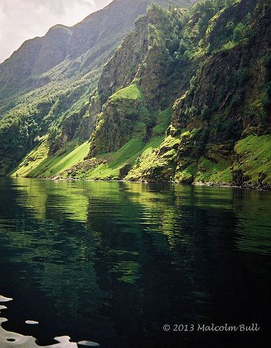 Green Fjord - Aurlandsfjord - Norway. Seriously the world is such a beautiful place!