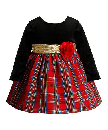 Youngland Black Amp Red Plaid Babydoll Dress Infant