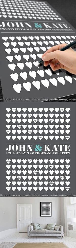 Heart Guest Book Wedding Guestbook Custom Guest by BrilliantIdea, $49.99 by josie