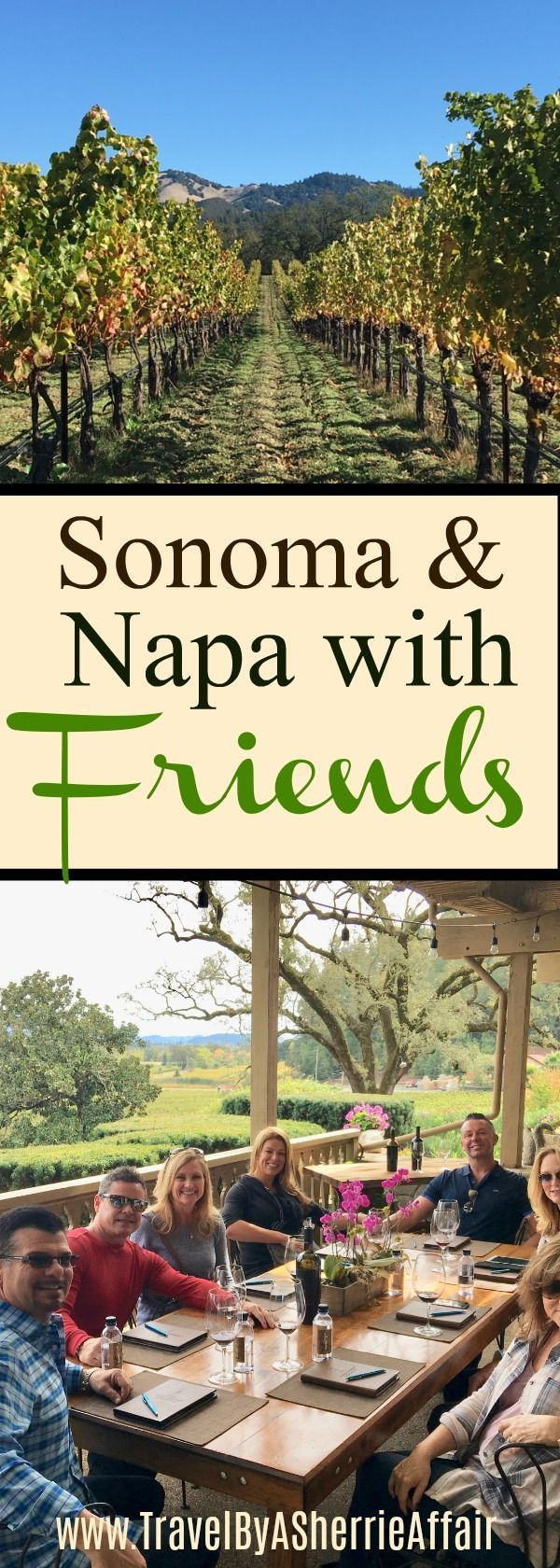 There is nothing better than traveling with good friends and when you all go to Sonoma and Napa Valley in California, United States for a fun vacation...well it's all fantastic!  #Sonoma #NapaValley #friends #Travel #travelwithfriends #California #wine #winecountry #Lassetervineyard #Buenavistawinery #RussianRiverVineyards #JosephCellars #PetroniVineyards