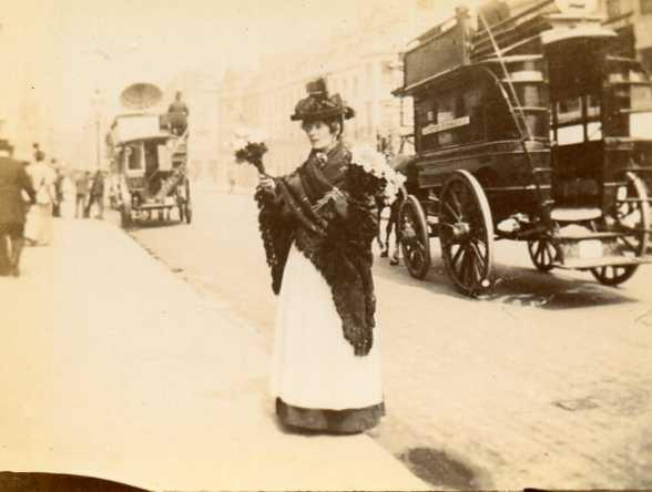 Victorian flower seller 1890