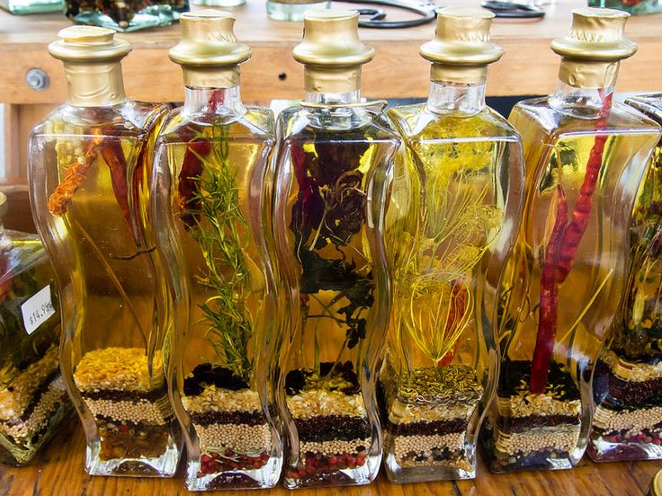 Flavored oils and vinegars by Susanne Liberty