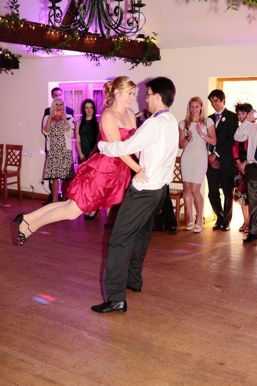 The first dance at an Oak Farm wedding