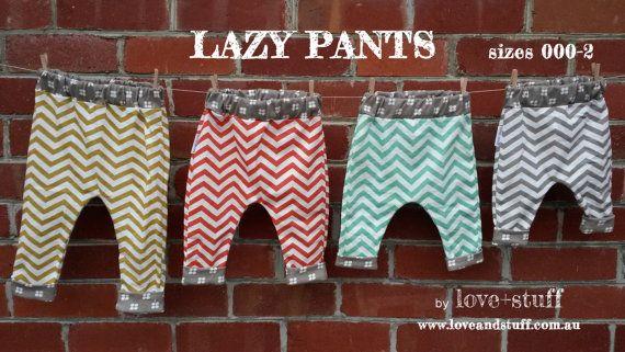 Lovestuff Lazy Pants PDF Pattern in Sizes by Loveandstuffdesigns