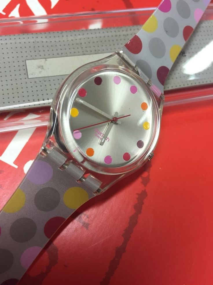 VINTAGE Swatch GE125 Melting Spot 2004 New In Box Silver #Swatch #CartoonIdol