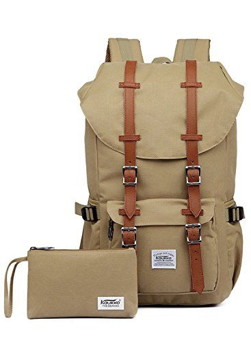 """Kaukko Laptop Outdoor Backpack, Travel Hiking& Camping Rucksack Pack, Casual Large College School Daypack, Shoulder Book Bags Back Fits 15"""" Laptop & Tablets (EP51khaki[2pcs]). For product & price info go to:  https://all4hiking.com/products/kaukko-laptop-outdoor-backpack-travel-hiking-camping-rucksack-pack-casual-large-college-school-daypack-shoulder-book-bags-back-fits-15-laptop-tablets-ep51khaki2pcs/"""