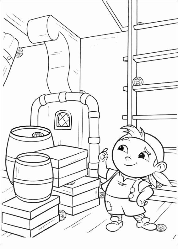 Jake And The Neverland Pirates Coloring Page Elegant Jake And The Never Land Pirates Coloring Pages In 2020 Pirate Coloring Pages Coloring Pages Disney Coloring Pages