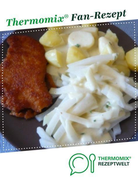 Kohlrabigemüse mit Kartoffeln und heller Soße   – Thermomix