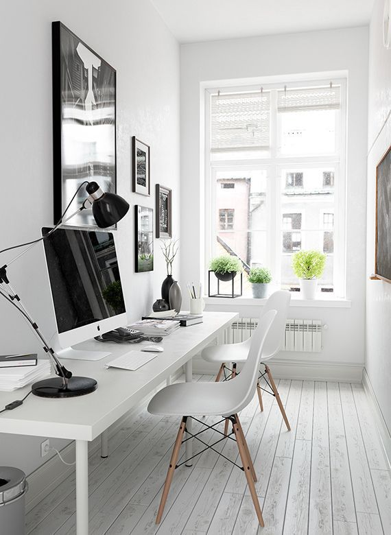 Attractive Arbeitszimmer Inspiration Für Kleine Räume   Workspace Inspiration White In  White And Of Course Mac ;