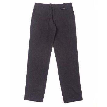Oliver Spencer Oliver Spencer - Midnight Blue Fishtail Trousers: Oliver Spencer's Fishtail Trouser in rich Midnight Blue is of the more popular styles being neither baggy nor skinny. Made from a very soft cotton and wool blend with a slightly tapered cut.  Five pocket design, notched waistband, button and zip fastening.  Regular fit.