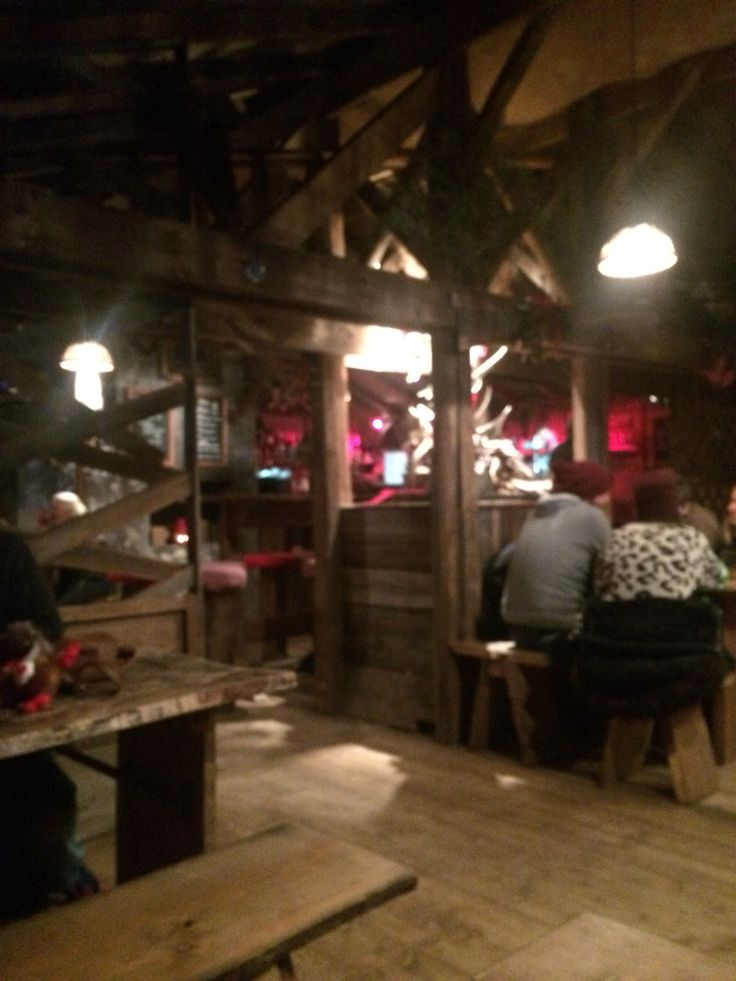 Winter wonderland Cardiff 2014 log cabin pub