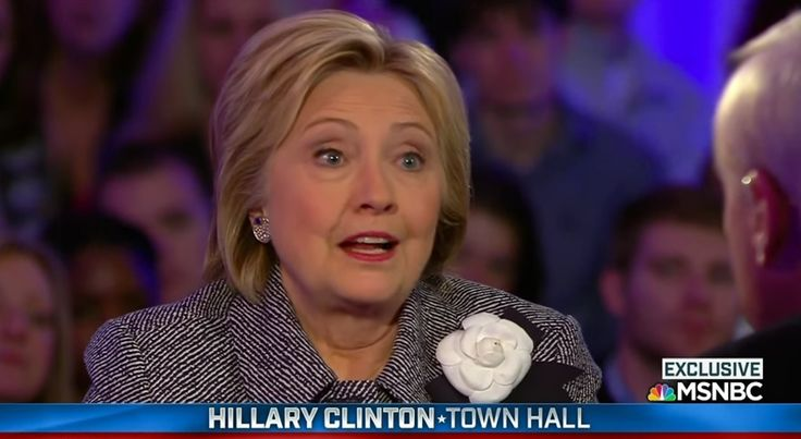 During a March 2016 MSNBC Town Hall appearance, Hillary Clinton discussed her Iraq War vote, but she didn't suggest her vote was part of a political bribe.