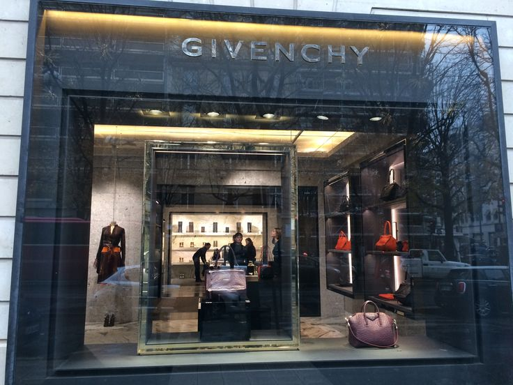 'Givenchy' modern store with simple & class items and staffs at Gorge IV street in Paris