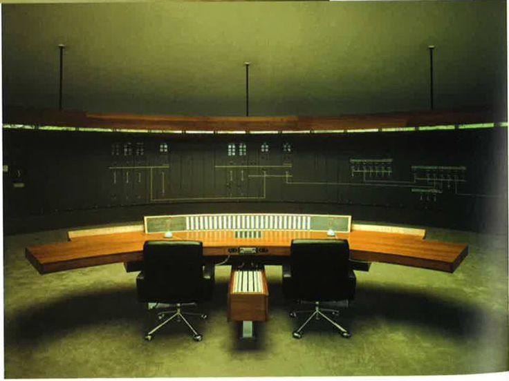 Geir Grung, Nesflaten Power Station. 1965 | Control Room