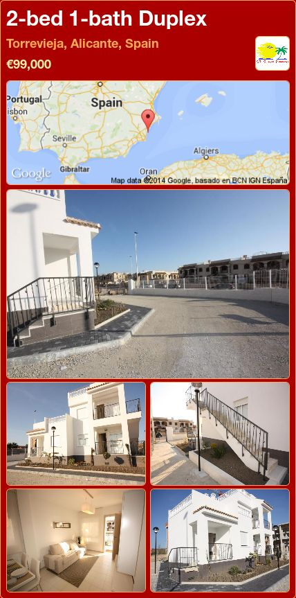 2-bed 1-bath Duplex for Sale in Torrevieja, Alicante, Spain ►€99,000
