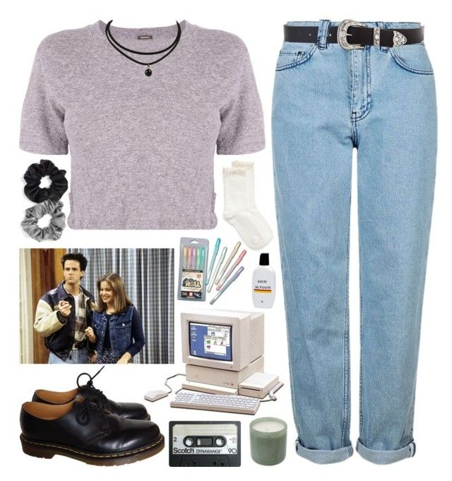 """FULL HOUSE ~ dj tanner"" by gemmonkey ❤ liked on Polyvore featuring Hue, Topshop, New House Textiles, B-Low the Belt, Monrow, Dr. Martens, Berry, Ultimate and LAFCO"