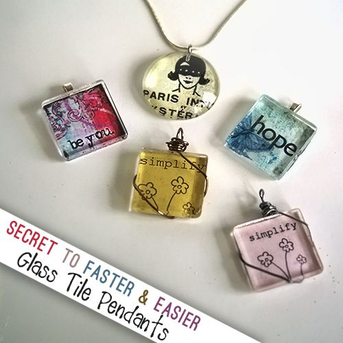 Xyron Create a Sticker for Easy, mess free Glass Tile Pendant @savedbyloves