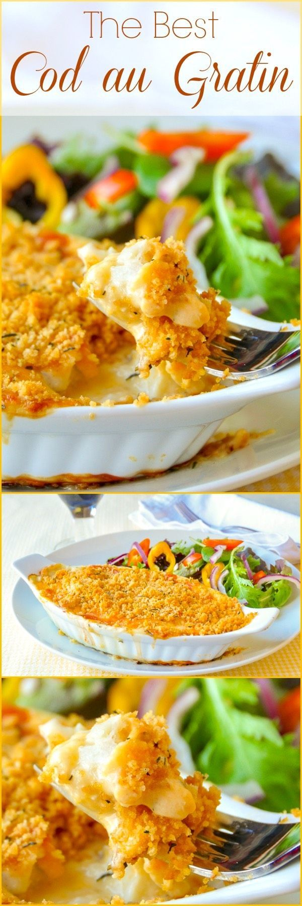 Cod au Gratin. One of our most popular recipes in ten years online. This version is easy to prepare and gets rave reviews every time. #seafood #fish #dinnerparty #newfoundlandfood #cod
