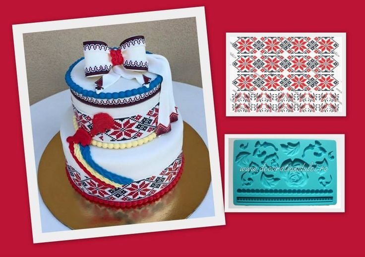 Motivele populare frumos asezate pe un tort de nunta. #printaripepastadezahar https://decoratiunidulci.ro/folcloric #mulajsiliconalimentar perle mari si trandafir https://decoratiunidulci.ro/mulaje-tematice  SURSA: https://www.facebook.com/photo.php?fbid=883578888382073&set=a.196147810458521.47400.100001899109322&type=1